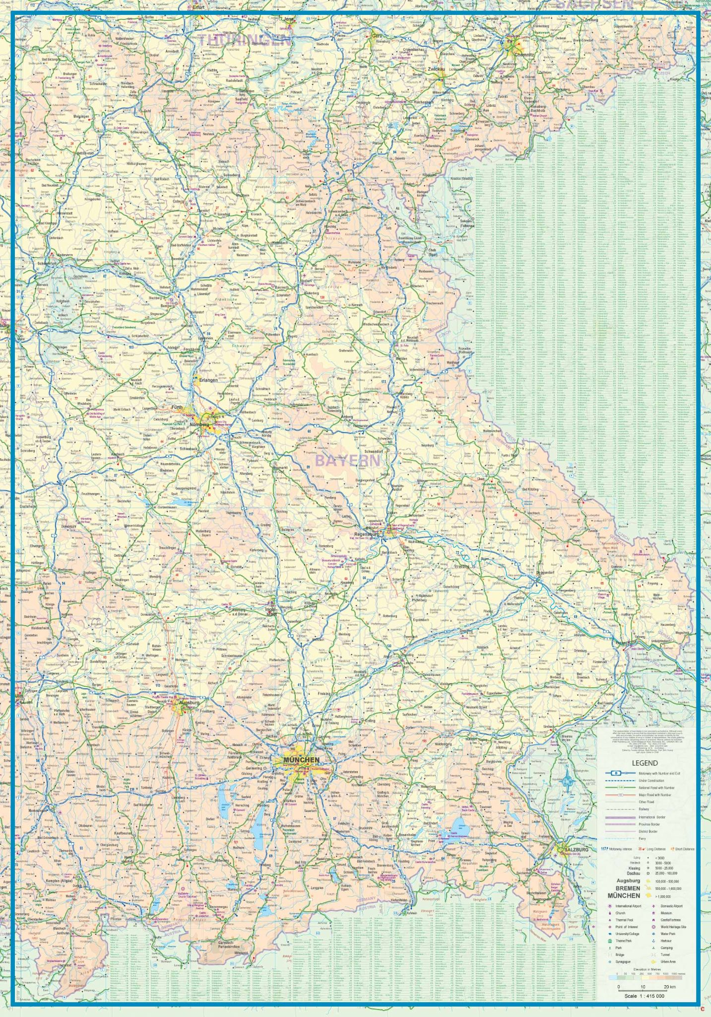 Southern Germany Travel Map